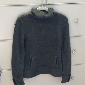 Magaschoni herringbone green wool sweater